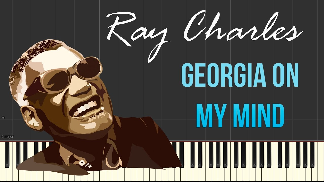 Ray Charles - Georgia On My Mind (Piano Tutorial Synthesia) - YouTube