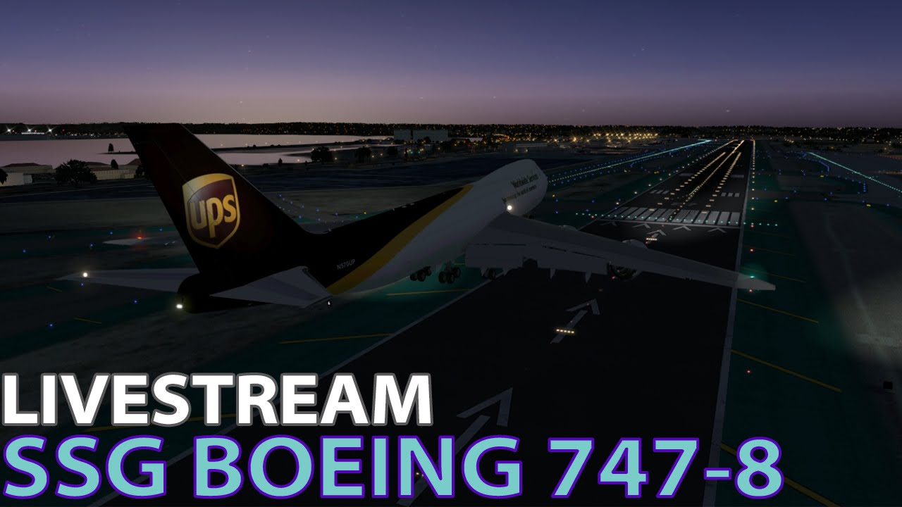 [Livestream] SSG Boeing 747-8 on PilotEdge in X-Plane 10   2015-12-30 by  catstrator