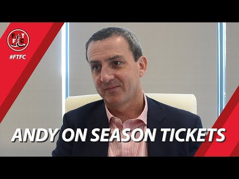 Andy Pilley on Season Ticket Progression | Interview