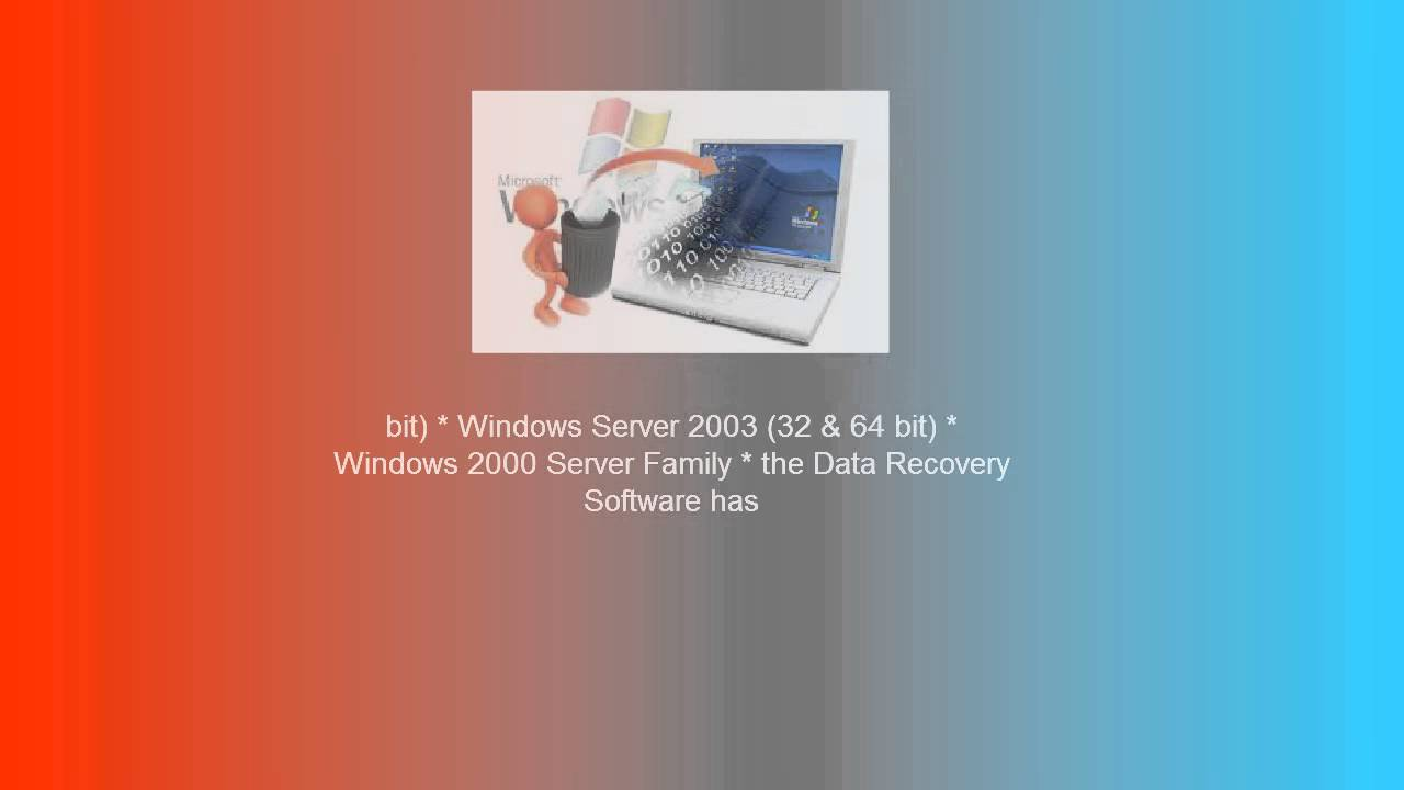 Windows 8 data recovery software to recover deleted