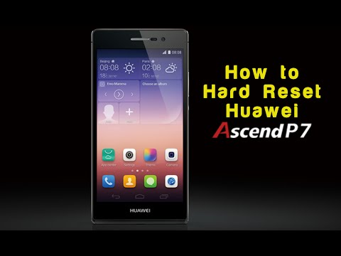 How To Factory Reset/ Hard Rest Huawei Ascend P7 Phone