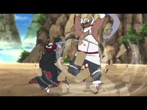 Sasuke Vs Killer Bee Inside The Fire
