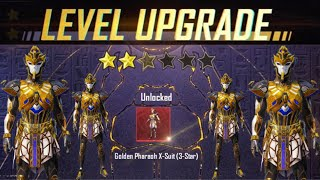 UPGRADE GOLDEN PHARAOH X - SUIT  | Play Game In Egyptian Pyramid Mode | Pubg Mobile