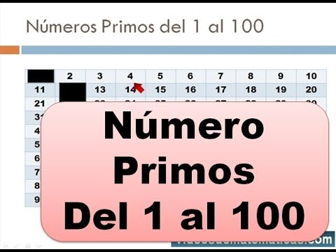 Worksheets 1 Al 100 numeros primos del 1 al 100 youtube