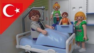 Çocuk filmi Baba Hastanelik Oluyor - Playmobil Türkçe Hauser Ailesi