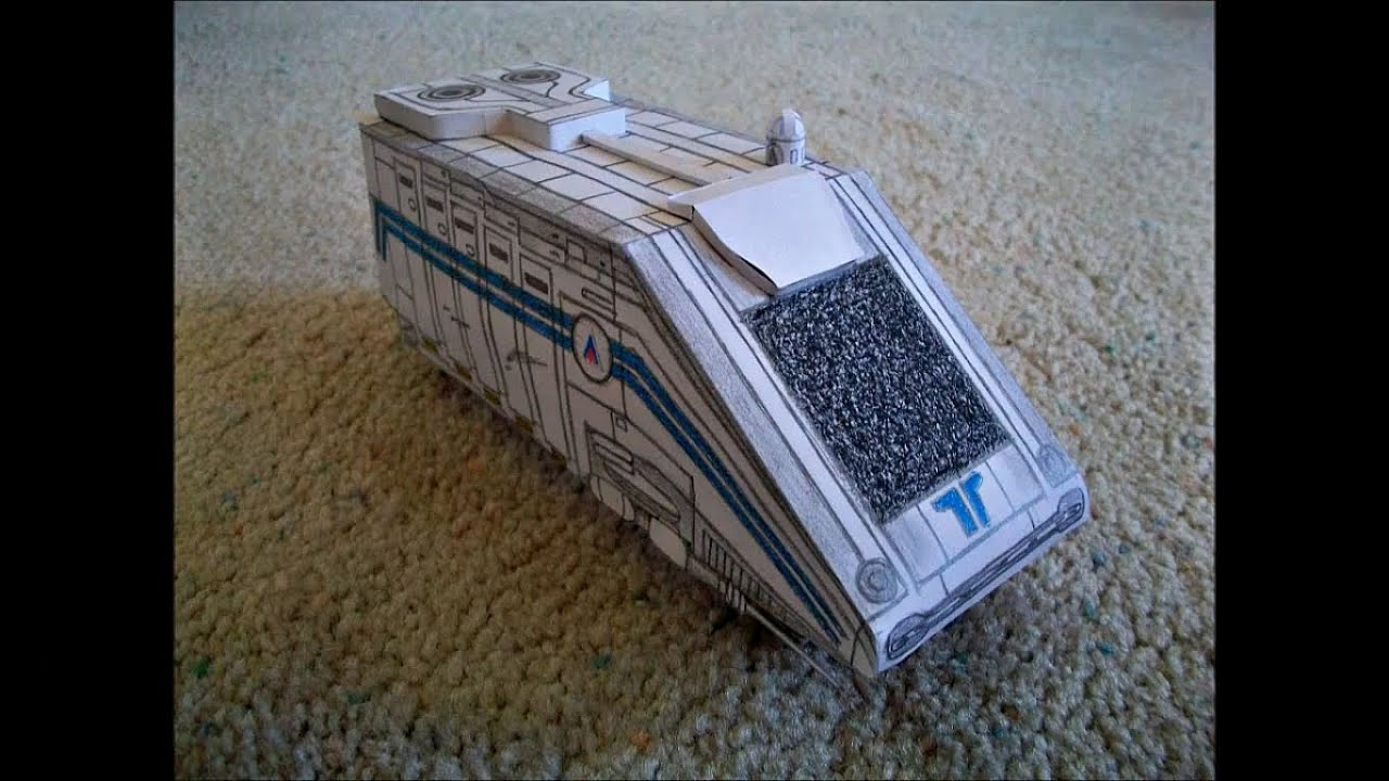 Paper Model of the Starspeeder 3000 from the Star Tours Attraction from  Disney World
