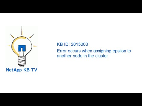 Error occurs when assigning epsilon to another node in the cluster