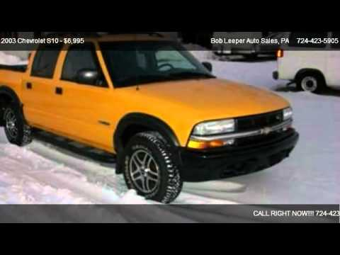2003 Chevrolet S10 Ls Crew Cab 4wd Yellow For Sale In Acme Pa