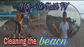 CLEANING UP IN THE BEACH WITH ATE FAITH TV  #JANETV#