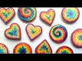 How To Decorate Rainbow Tie Dye Cookies With Royal Icing!