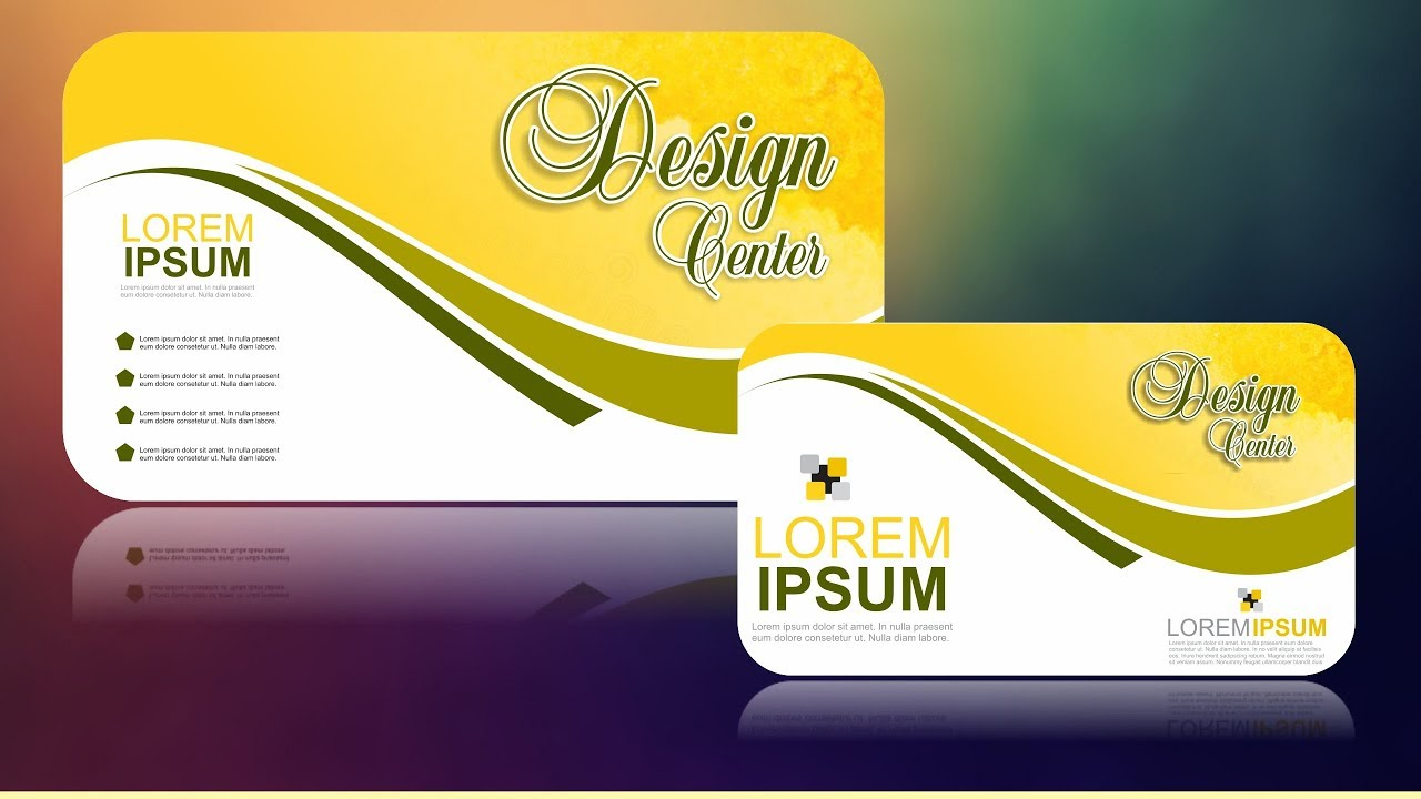 Coreldraw X7 Tutorial Business Card Design 13 With As Graphics