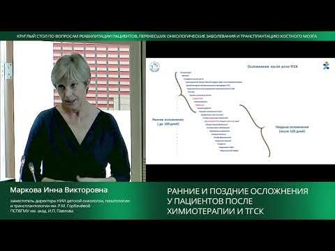 Ранние и поздние осложнения у пациентов после химиотерапии и ТГСК