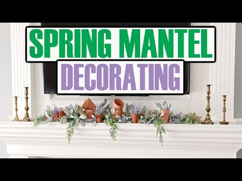DECORATE MANTEL FOR SPRING 2019 🔵 DOLLAR TREE  & WALMART MANTEL