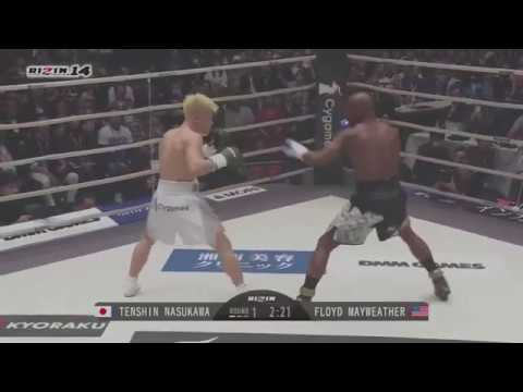 Floyd Mayweather vs Tenshin Nasukawa (Full Fight) (good quality)