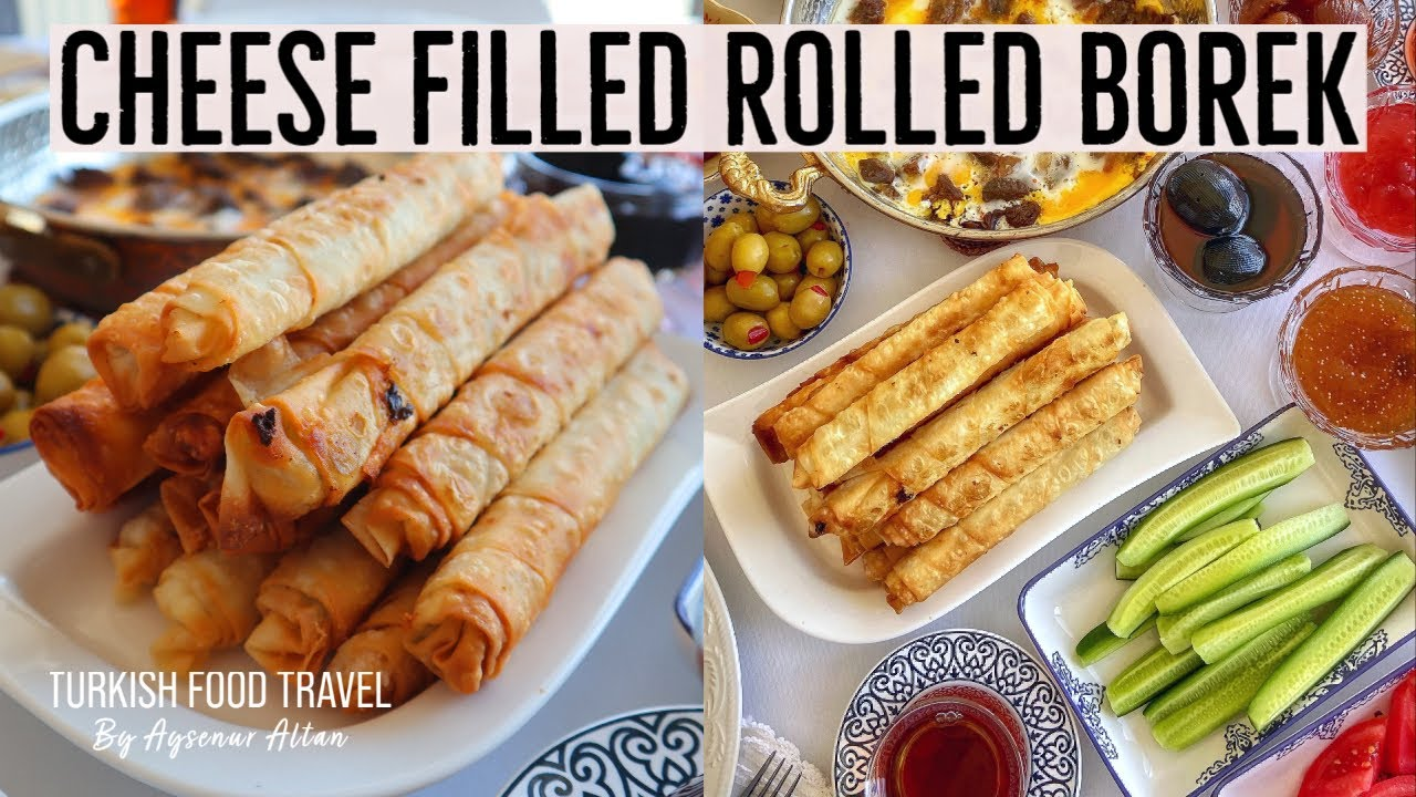 Turkish White Cheese Filled Rolled Borek