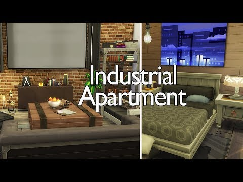 Industrial Apartment // The Sims 4 Speed Build thumbnail