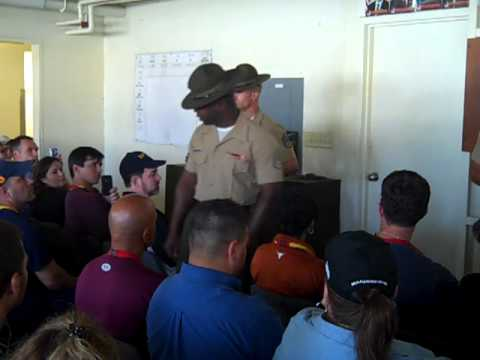 Marine Drill Instructors Meet South Texas Educators