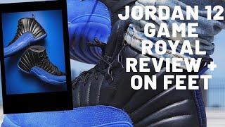 Air Jordan 12 Game Royal Retro Sneaker Honest Detailed