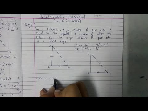 Chapter 6 Theorem 6.9 || Triangles|| class 10 maths