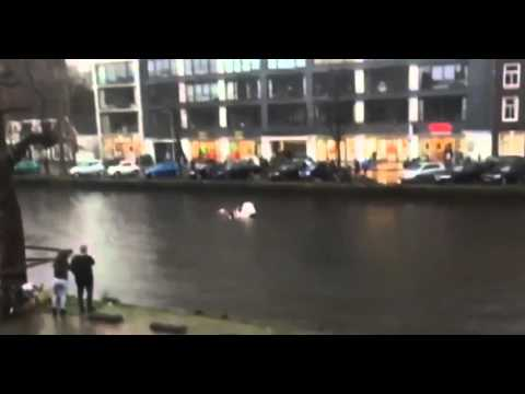 Hero saves mother and son from canal in Amsterdam