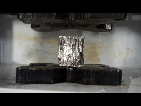 Crushing Diamagnetic Bismuth With Hydraulic Press