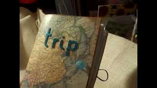 Travel Junk Journal made from a clasp envelope 6 by 9 inches
