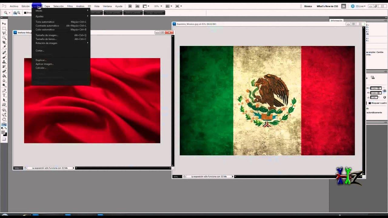 CREAR EFECTO BANDERA 3D EN PHOTOSHOP - YouTube