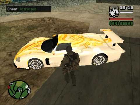 GTA SA car mods and BONUS