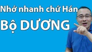 Học tiếng Trung, Bí quyết nhớ nhanh chữ Hán - Bộ Dương
