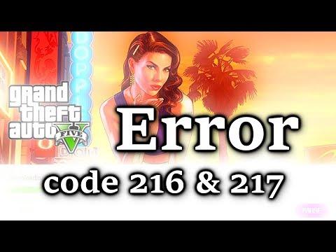 GTA 5 Rockstar Games update Error code 216 and code 217 FIX