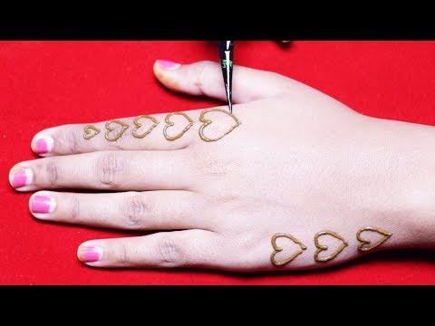 Latest Heart Stylish Mehndi Design [ Henna Designs ] - New Mehndi Designs - Easy Mehndi Designs