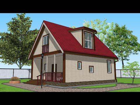 Проект дома 6 на 8 два этажа 90 квм | Двухэтажный дом с тремя спальнями