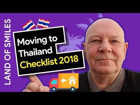 Moving to Thailand (2018) Checklist