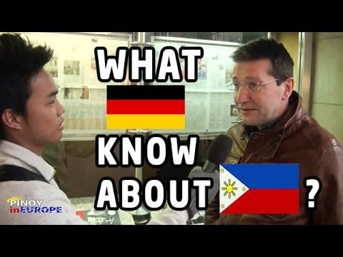 What Germans know about Philippines? | Pinoy in Europe