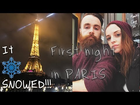 Snow In Paris In December - Eiffel Tower At Night - PARIS VLOG 🇫🇷