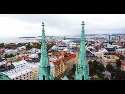 Helsingfors, Suomi - Helsinki, Finland From Above - 4K