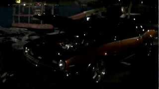 dubsandtires com 1972 chevy camaro black orange paint 18 inch american racing torq thrust wheels