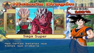 Dragon Ball Z Budokai Tenkaichi 4 - Modo historia AF MODS Goku SSJ Kaioken 10x vs Black Vegeta Rose