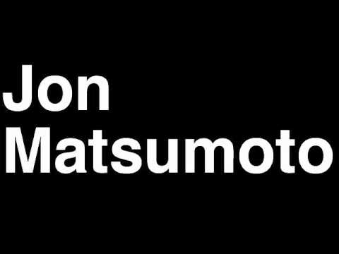 How To Pronounce Jon Matsumoto Florida Panthers Nhl Hockey Player