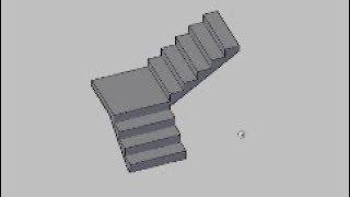 AutoCad | Wie erstellen L-förmige Treppen