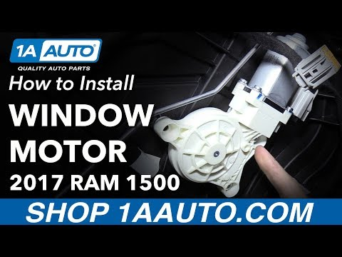 How to Install Replace Rear Window Regulator Motor 2017 Ram 1500