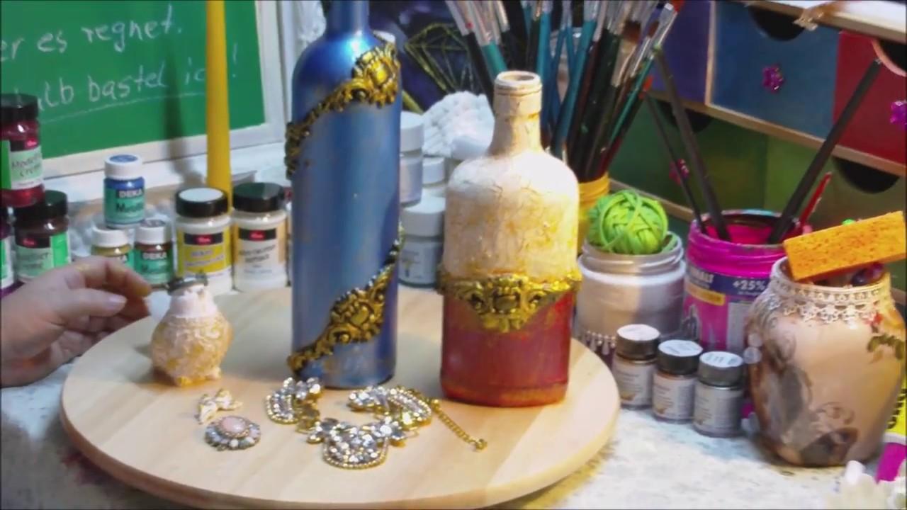 Upcycling Alter Flaschen Und Gläser Im Barock Stil