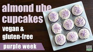 almond ube cupcakes (vegan & gluten-free) Something Vegan purple week