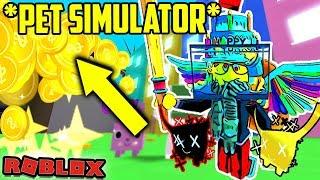 ✨ Pet Simulator ✨💰 Giving OUT GOLD TIER 16 animais de estimação 💰 Roblox Live with Purplefembot