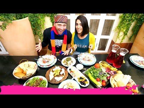 Artsakh FOOD & WINE In STEPANAKERT + Wearing A FIRE HELMET | Republic Of Artsakh