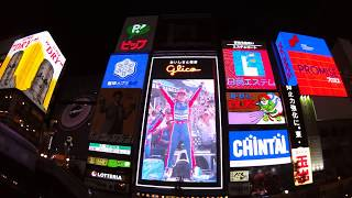 佐藤琢磨のインディ500優勝を記念して、大阪道頓堀のグリコが「佐藤琢磨...