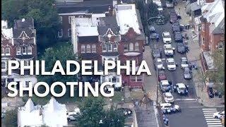 Chopper 6 shows scene where 6 police officers injured in Philadelphia shooting