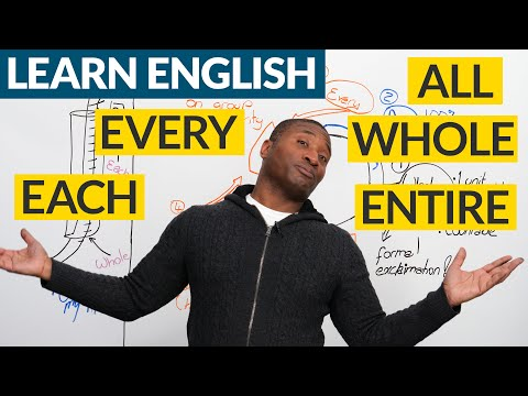 Learn English: When to use EACH, EVERY, WHOLE, ENTIRE, ALL