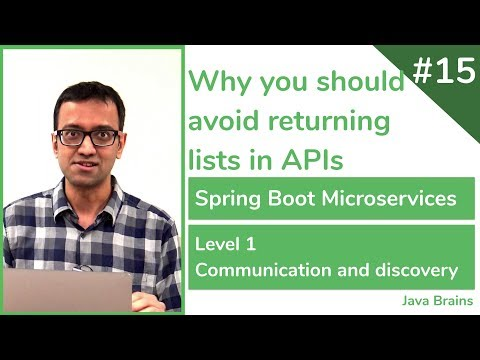 15 Why you should avoid returning lists in APIs - Spring