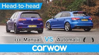 VW Golf R vs Audi S3 manual vs automatic DRAG RACE - what difference does the gearbox make?